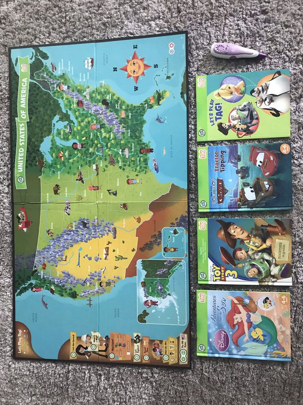 LeapFrog reader pen & interactive map & books for Sale in Olympia ...