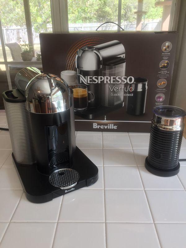 d750e3b49ba9 Nespresso Vertuo Coffee   Espresso Machine Bundle with Aeroccino Milk  Frother by Breville