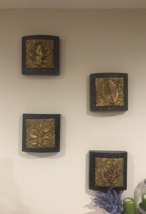 Wood and gold wall decor for Sale in Scottsdale, AZ