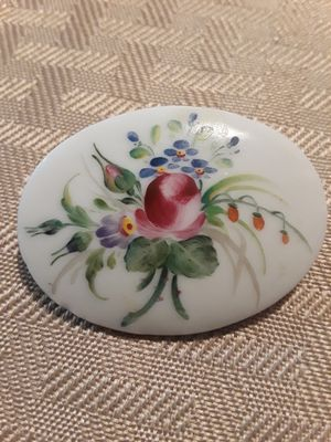 Vintage Hand Painted Porcelain Brooch Signed for Sale in Houston, TX