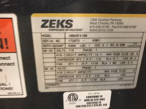 ZEKS Commercial Air Dryer for Sale in Apex, NC