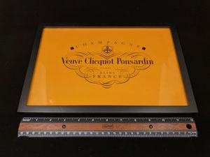 Veuve Clicquot Champagne Bar Cart Framed Hangable Standup Sign Advertisement for Sale in Houston, TX