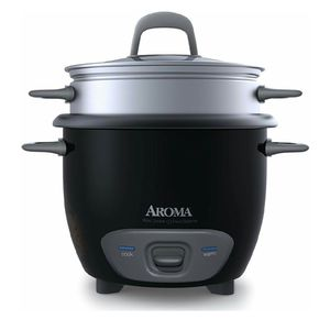 Aroma Housewares 6-Cup (Cooked) Pot-Style Rice Cooker and Food Steamer, Black ARC-743-1NGB for Sale in Alexandria, VA