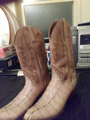 Size ten snake skin boots for Sale in St. Louis, MO