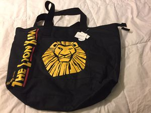 Lion King Zippered bag, new with tags for Sale in Silver Spring, MD