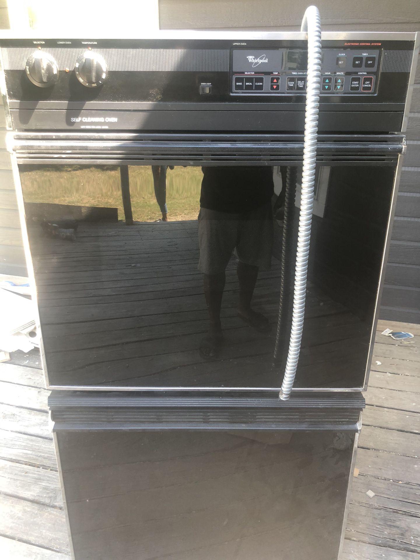 Whirl pool double oven $200