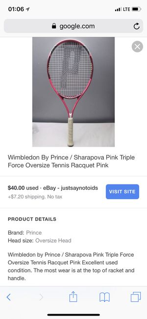 Wimbledon by Prince tennis racquet for Sale in Houston, TX