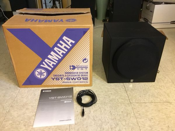 Yamaha Powered Subwoofermodel Yst Sw012 8 Driver Front