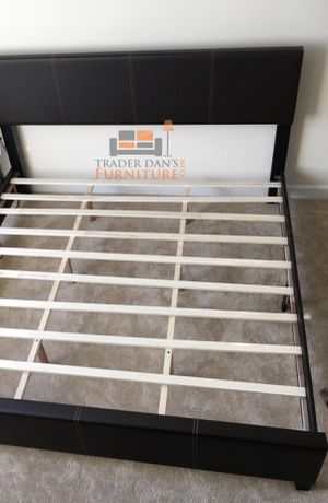 Brand New King Size Brown Leather Platform Bed for Sale in Silver Spring, MD