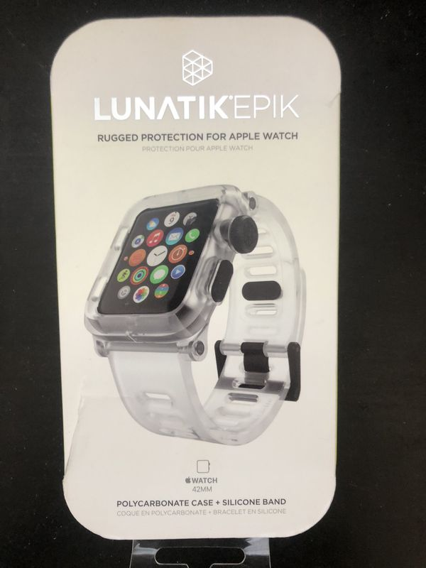 san francisco 9c34d 599c4 Series 1/2/3 Apple Watch 42mm Clear Rugged Protection Case & Band for Sale  in Orlando, FL - OfferUp