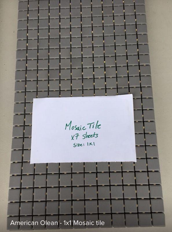 American OLean Mosaic White W Black Dot Household In Chicopee - American olean 2x2 mosaic tile