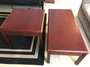 Coffee table, end table - Cherry Classic Edge Tables worth $1300 for Sale in Falls Church, VA