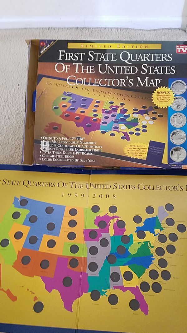 Collectors map First State Quarters of The United States for Sale in ...