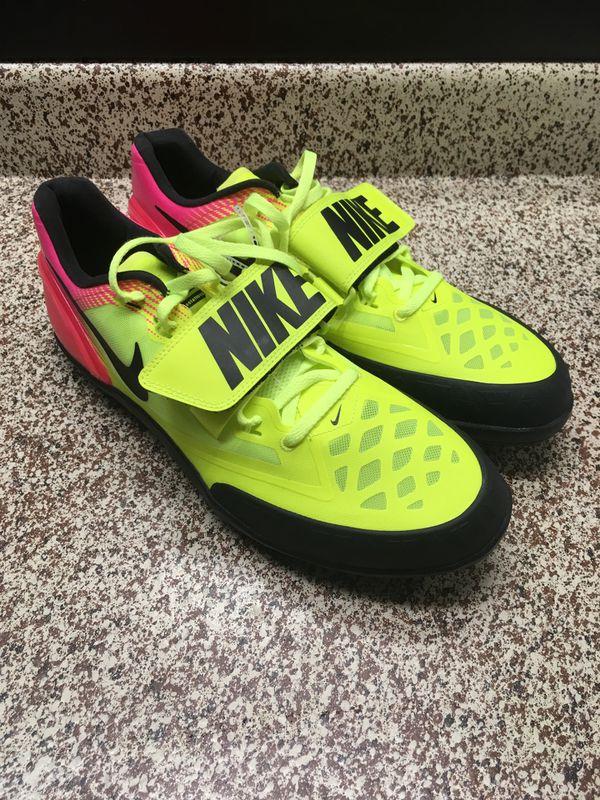 f95320fb8220 Mens Nike Zoom Rotational 6 Shot Put Discus Shoes Sz 11.5 Yellow Pink