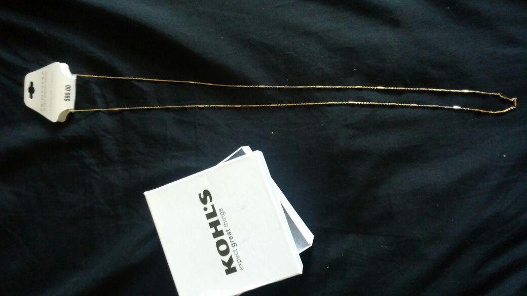 Brand new primavera 24kt gold over sterling necklace