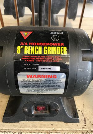 Tremendous Allied 3 3 Horsepower 8 Bench Grinder For Sale In Chicago Andrewgaddart Wooden Chair Designs For Living Room Andrewgaddartcom