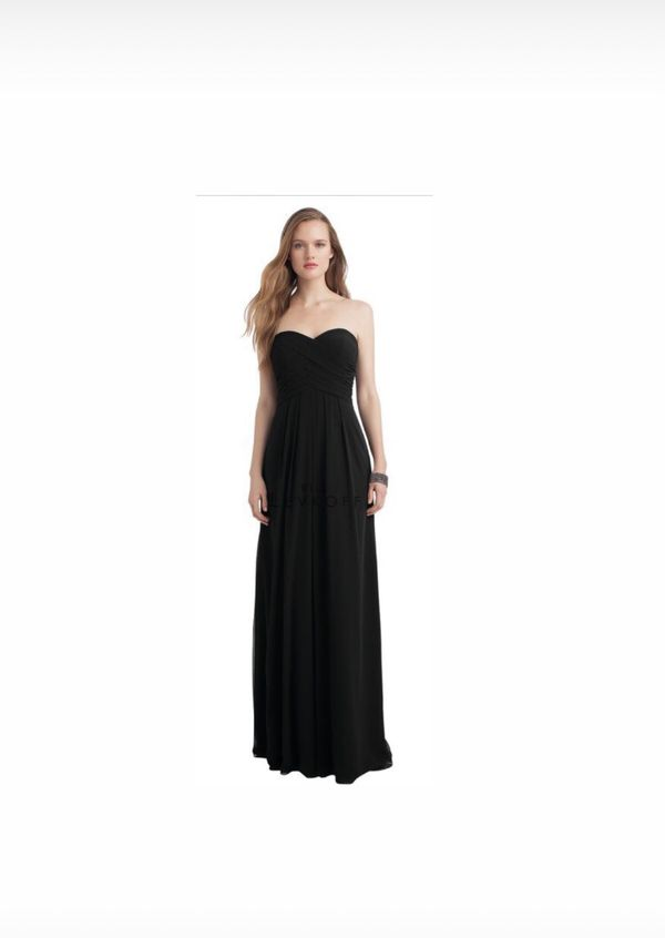 Bill Levkoff Black Strapless Bridesmaid Dress For Sale In Castro
