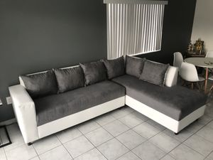 White and Grey Sectional Sofa for Sale in Miami Springs, FL