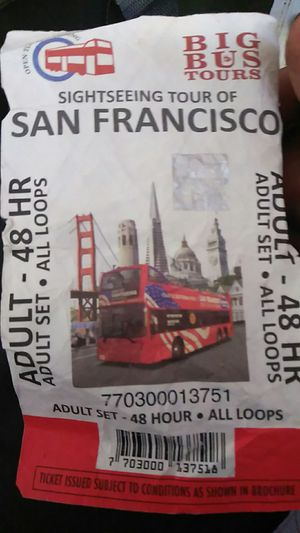Big bus sightseeing tours 48hr. Ticket for Sale in San Francisco, CA
