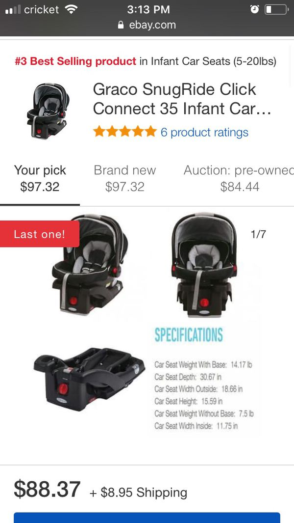 Graco Snugride Click Connect 35 Infant Car Seat For In Port Richey Fl Offerup