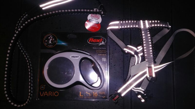NEW!! KONG HARNESS & KONG LEASH & FKEXI VARIO RETRACTABLE LEASH ALL LARGE NEW