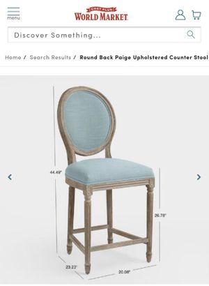 Photo Counter height stools, Blue linen, World Market, (2)