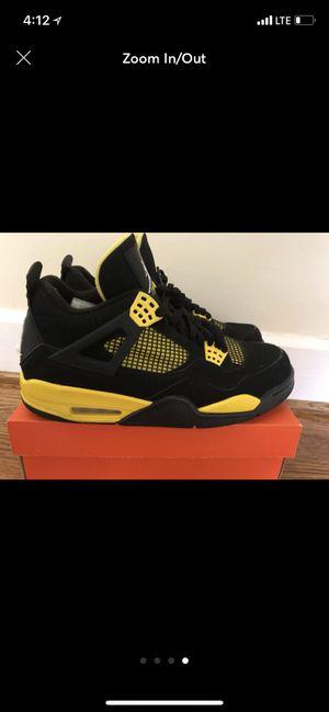 Nike Air Jordan 4 Thunder Black/Gold size 11 Mens's for Sale in Arlington, VA