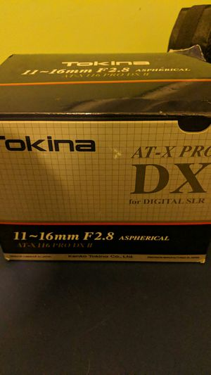 Tokina wide lens for Canon 11-16 mm for Sale in Laurel, MD