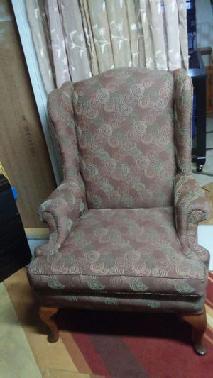 Coach wingback chair and foot stool all 3 for $225 for Sale in Martinsburg, WV
