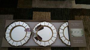 Set of 3 Mirror wall decor for Sale in Fairfax, VA