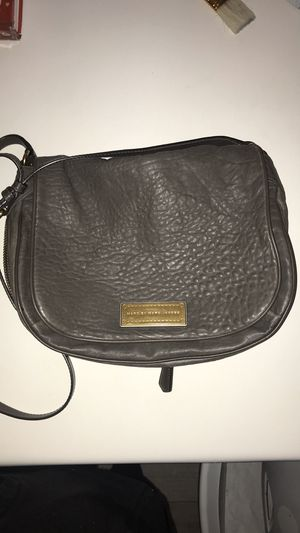 Photo Marc Jacobs gray lambs leather purse medium crossbody