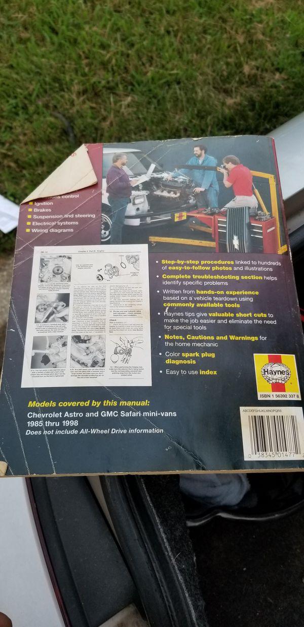 1885 Thru 1998 Gmc Astro Repair Manual