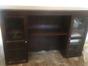 Desk Hutch Credenza L-Shaped Desk Real Hardwood High-End for Sale in Pittsburgh, PA