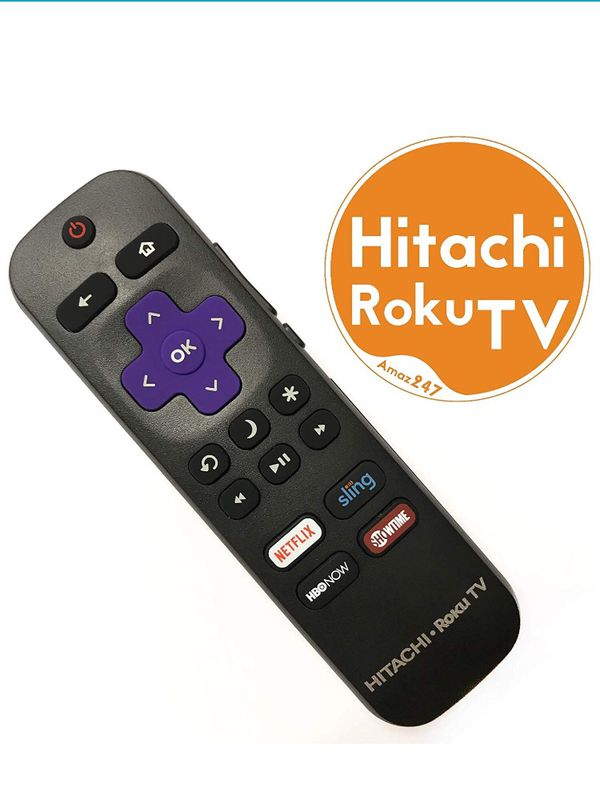 Roku Box: Original Hitachi Roku TV Remote W/Volume Control & TV