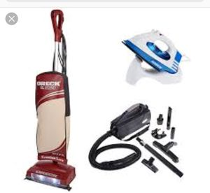Oreck XL Legend Upright HEPA Vacuum w/Canister Vac & Cordless Iron for Sale in Rockville, MD