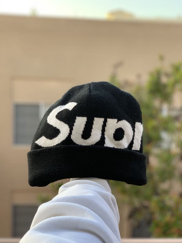 abda531b Supreme Big Logo Beanie Black for Sale in Los Angeles, CA - OfferUp