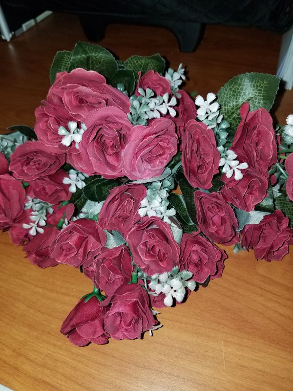 Four Small Rose Bouquet Artificial Flowers Arts Crafts In