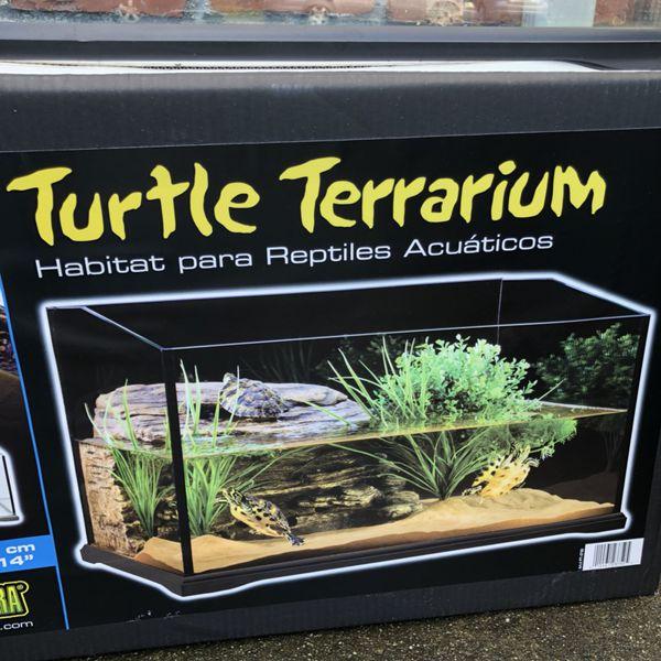 Exo Terra Turtle Terrarium Reptile Aquatic Reptile Habitat For
