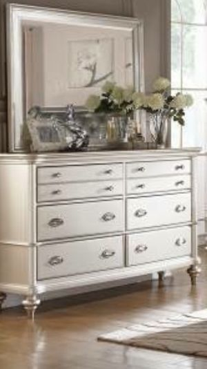 BEAUTIFUL DRESSER AND MIRROR NEW IN BOX for Sale in Austin, TX