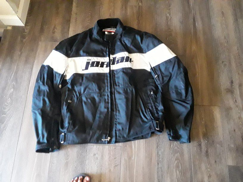Photo Extra Large Jordan Motorcycle Jacket With Liner Like Brand New 250 Or Best Offer