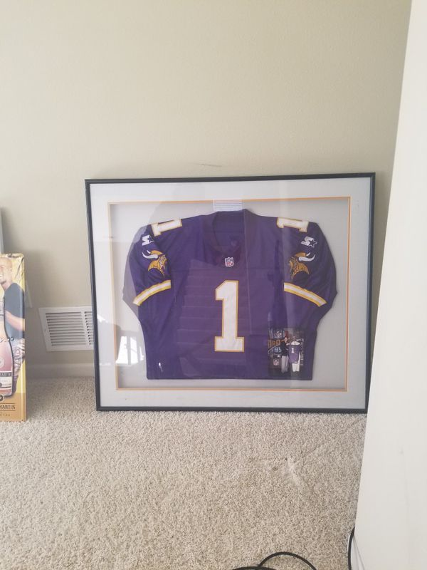 f2ececcfdf1 Warren Moon Framed Vikings Jersey** With photo for Sale in ...