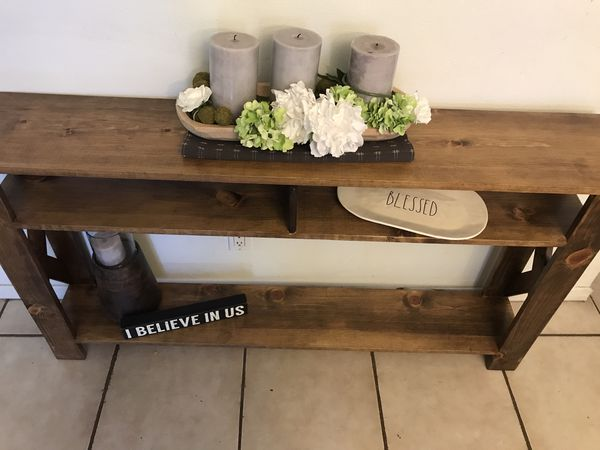 more photos 7af22 b4bd3 Rustic wood entry door console table for Sale in Pico Rivera, CA - OfferUp