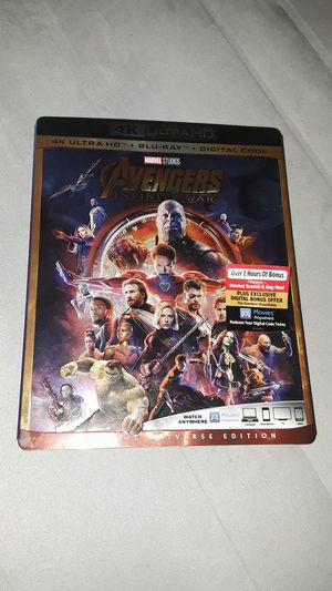 Avengers Infinity war blu-ray for Sale in Frederick, MD