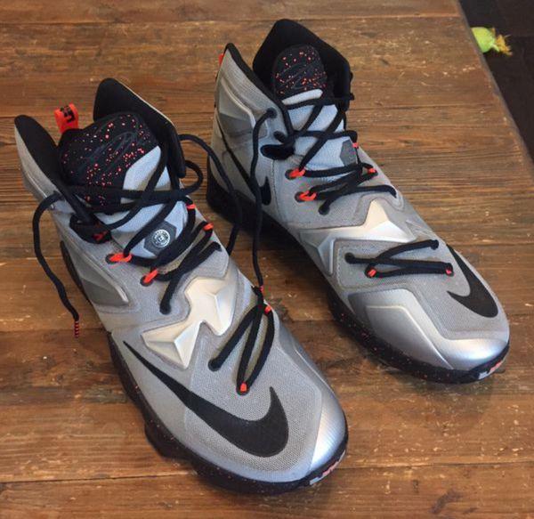 free shipping 5086e be341 Nike Lebron XIII (13) Sz. 12 Men s Basketball Shoes Silver Grey Lava