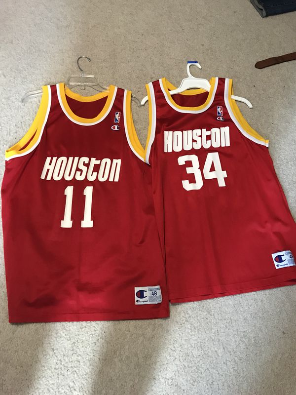 346ddc1042ad32 Vintage champion NBA Houston rockets jerseys. Men s xl.  70 each for ...