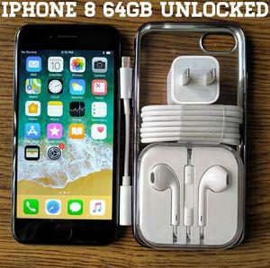 Iphone 8 (4.7') UNLOCKED 64GB w/ Accessories for Sale in Bailey's Crossroads, VA