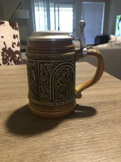 ANTIQUE West Germany beer stein Thumbnail