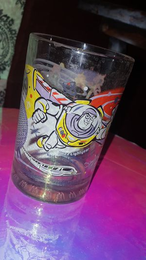 Disney Mickey Mouse Buzz Lightyear glass anniversary collectible McDonald's for Sale in Scottsdale, AZ