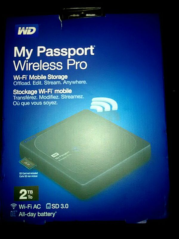 (WD) MY PASSPORT × WIRELESS PRO × Wi-Fi Mobile Storage × External Drive  (2TB) for Sale in Portland, OR - OfferUp