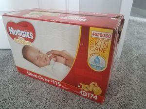Huggies 174 ct newborn for Sale in Salt Lake City, UT